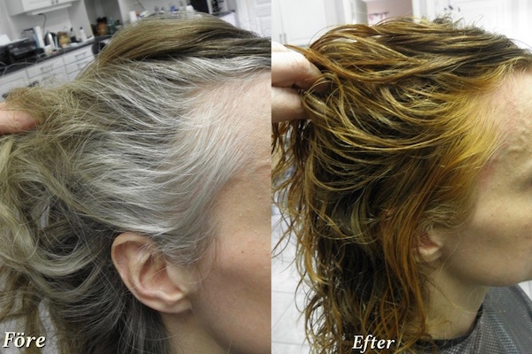 färga grått hår naturligt